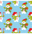 seamless pattern with snowman vector image