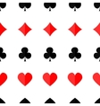Seamless poker background with suits vector image