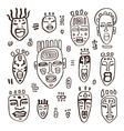 set african masks vector image vector image