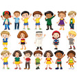 set isolated children in different actions vector image vector image