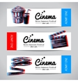 Set of movie banners Cinema festival tickets vector image vector image