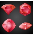 Set of red gemstones vector image
