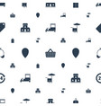 shop icons pattern seamless white background vector image vector image