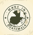 Stamp with map of Guatemala vector image vector image