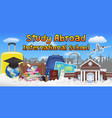study abroad international school banner poster vector image vector image