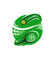 tennis racket and ball icon for sport club vector image vector image