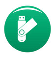 usb device icon green vector image vector image
