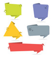vector set paper origami banners vector image