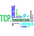word cloud tcp vector image vector image