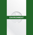 world environment day paper cut concept vector image vector image