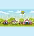 a colorful circus in summer vector image