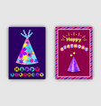 a set happy birthday greeting card with vector image vector image