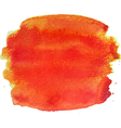 Abstract watercolor hand paint orange texture vector image vector image