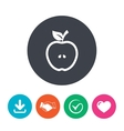 Apple sign icon Fruit with leaf symbol vector image vector image