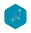 arabian falcon icon outline style vector image vector image
