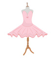Ballet dress on mannequin vector image vector image