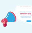 banner spread your message promotion to users vector image