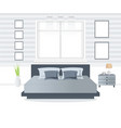 bedroom interior design vector image vector image