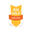 big sale of colorful discount pattern on white vector image vector image