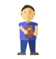 Boy character Isolated vector image vector image