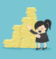 business woman offer money investment vector image