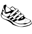 Cartoon sneakers shoe vector image