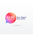 chat logo concept design vector image vector image