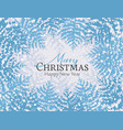 christmas snowy forest vector image