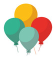 colorful baloons design vector image vector image
