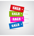 Colorful Sale Labels Tags vector image vector image
