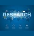 creative infographic of business research with vector image