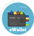 cryptocurrency wallet concept in line art style vector image vector image
