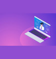 customer or hotline service concept with laptop vector image