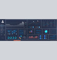 dashboard uiuxkit infographic template vector image vector image