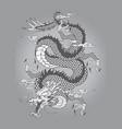 dragon capricorn goat tattoo japanese style vector image vector image