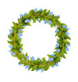 floral frame or wreath design template vector image vector image