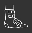 foot ankle brace chalk icon vector image vector image