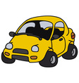 Funny yellow car vector image vector image