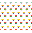 gay lgbt background heart love icon rainbow vector image vector image