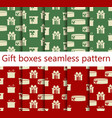 gift boxes set of seamless patterns vector image vector image