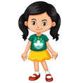 girl wearing shirt with macau flag vector image vector image