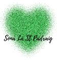 Glitter confetti St Patrick Day template vector image vector image