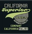 graphic california superior apparels vector image