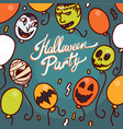 halloween party concept background hand drawn vector image vector image