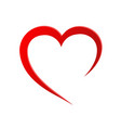 heart love romatic passion icon isolated and flat vector image