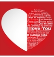 I love you in all languages vector image