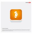 icon socks orange abstract web button vector image