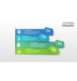 infographic design template with 4 steps vector image vector image