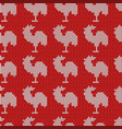 knitting red with roosters vector image