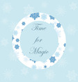 Light Christmas background with snowflakes and orn vector image vector image